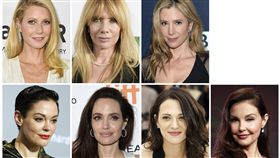 好萊塢名製片哈維溫斯坦性騷擾,好萊塢女星(圖/美聯社/達志影像)