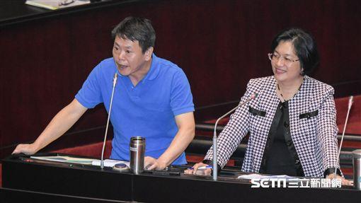 中國國民黨立法委員林為洲、王惠美 圖/記者林敬旻攝