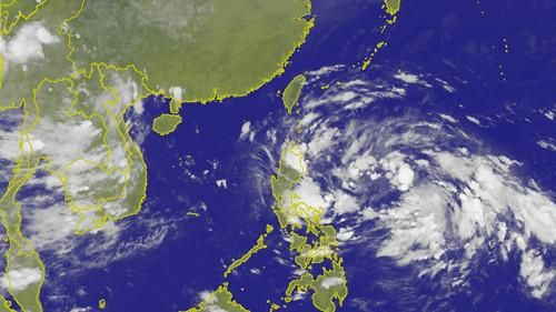 今(11)日氣象局衛星雲圖。(圖/翻攝中央氣象局)