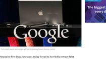 美國,道瓊通訊社,谷歌,蘋果,