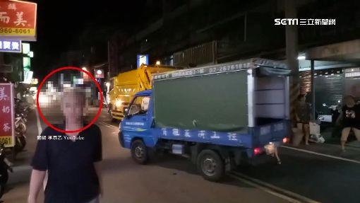 倒完垃圾轉身過馬路 慘遭騎士撞飛