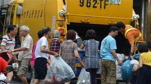 垃圾車,斗六,清潔隊圖/中央社