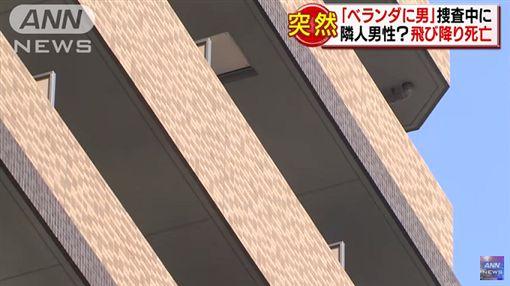 女子家中驚見陌生男子,報案後,一名鄰居男子突然跳樓身亡。(圖/翻攝ANNnewsCH YouTube)