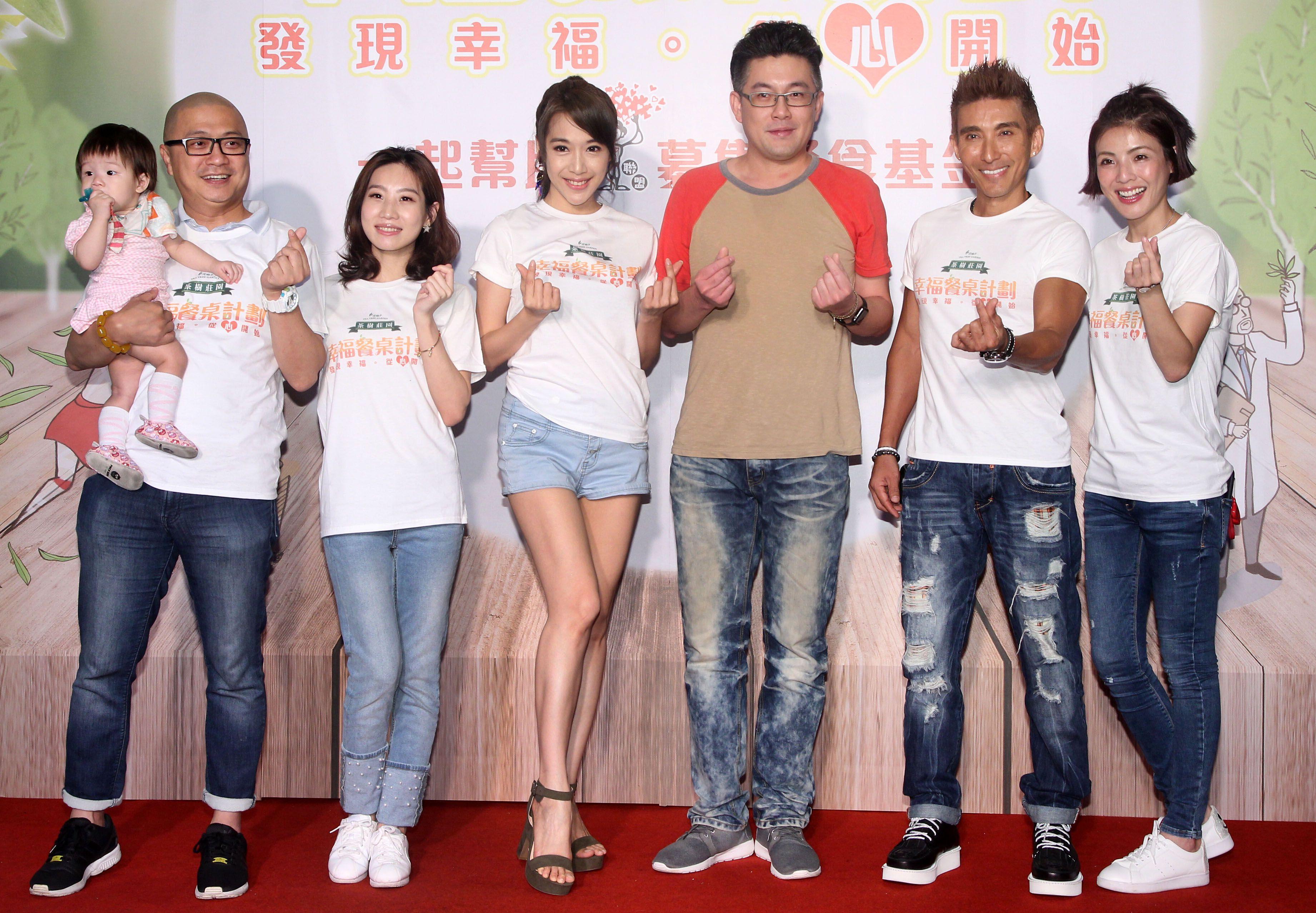 PAUL、咪咪 、依依 、潘若迪 、徐小可參加茶樹莊園幸福餐桌計畫公益活動。(記者邱榮吉/攝影)