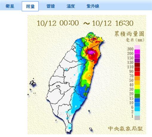 宜蘭大雨,降雨,豪雨特報,下雨圖/氣象局