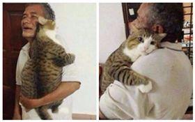 移情別戀!工作忙托阿公顧貓 接回家時竟抱著阿公不肯走(圖/翻攝自微博)