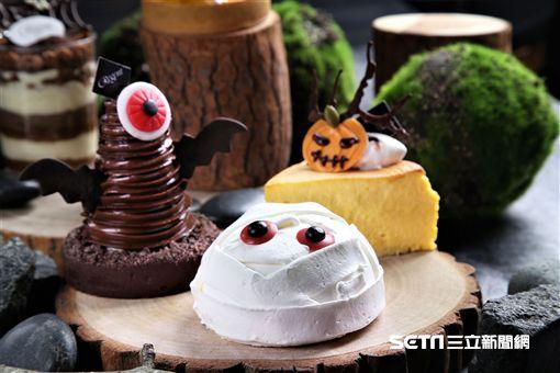 萬聖節造型甜點。(圖/台北晶華酒店提供)