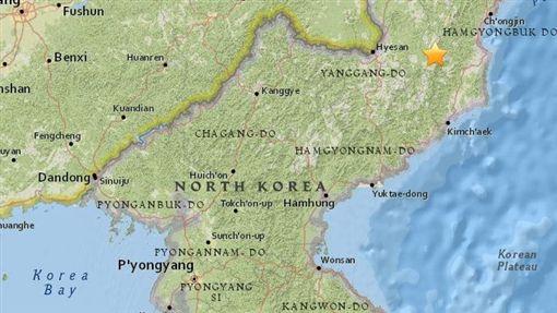 又核爆?北韓發生規模2.9淺層地震 震央位在核試驗場圖/翻攝自美國地質調查局https://earthquake.usgs.gov/earthquakes/eventpage/us1000aqsx#executive