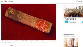 16:9 邱吉爾抽剩半根雪茄 36萬元落槌成交 圖/翻攝自Time http://time.com/4980981/winston-churchill-cigar-auction-paris/
