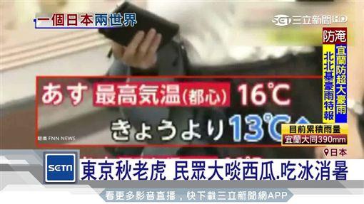 明 怪天! 北海道迎初雪 東京熱到狂吃冰