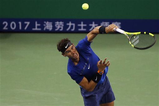 ▲Rafael Nadal在上海大師賽中晉級四強。(圖/美聯社/達志影像)