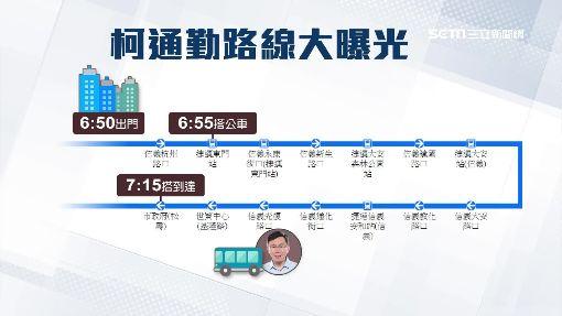 搭公車上班救交通 柯文哲通勤路線大曝光!