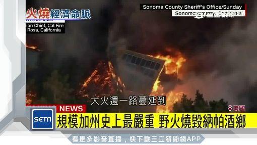 加州史上最慘野火 吞噬三個「台北市」
