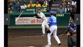 ▲阪神虎老將福留孝介在季後賽擊出全壘打。(圖/截自日本媒體)