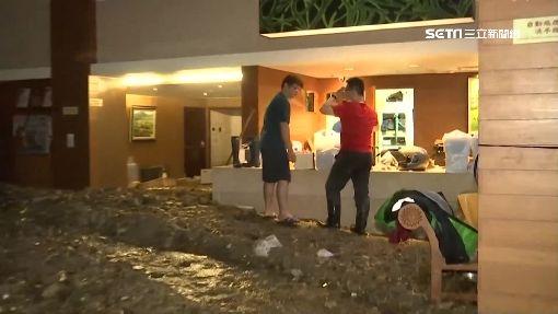 土石流炸富野飯店 泥沙淹一樓高成廢墟