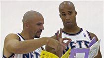 ▲2006年基德與傑佛森一起在籃網。(圖/美聯社/達志影像)