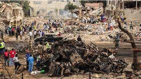 非洲,索馬利亞,汽車炸彈攻擊,爆炸(圖/翻攝自推特)