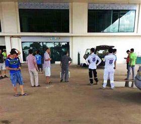 寮國台商遭槍殺。(圖擷自《萬象時報》(Vientiane Times)臉書)