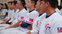 中華隊球員披上中華民國國旗出戰。(圖/棒協提供)