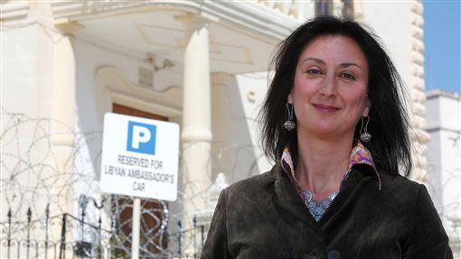 馬爾他知名女記者加莉西亞(Dalapha Caruana Galizia)被炸死(圖/路透社/達志影像)