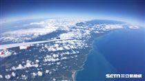 航空,飛機,台灣海岸。(圖/記者簡佑庭攝)