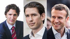 Justin Trudeau EmmanuelMacron sebastiankurz 庫爾茨,馬克宏,杜魯道 加拿大總理 奧地利準總理 法國總統  圖翻攝自官方臉書 https://www.facebook.com/JustinPJTrudeau/ https://www.facebook.com/EmmanuelMacron/ https://www.facebook.com/sebastia