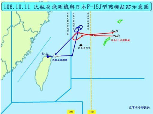台日關係,民航局,費鴻泰,軍機,日本,防空識別區 圖/空軍司令部提供