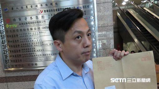 國民黨發言人李明賢,遭塗銷「中國」兩字函的公函。(記者盧素梅攝)