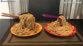 媽媽自製神奇魔法麵條。(圖/翻攝自Lu小小 兩寶媽 愛玩咖臉書)