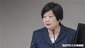 勞動部長林美珠19日赴立法院備詢,衛環委員會。 圖/記者林敬旻攝