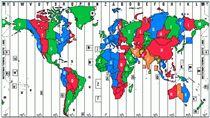 時區圖 圖/翻攝自世界時區圖官網