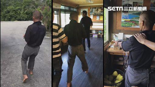 「台東野人」林金寶被玉里警分局專案小組逮捕(翻攝畫面)