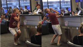 飛機,誤點,候機室,旅客,唱歌,跳舞,紐奧良,機場 圖/翻攝自臉書