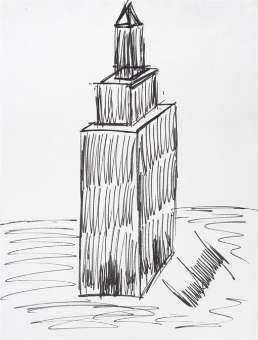 美國,總統,川普,TRUMP,素描,紐約帝國大廈,Empire State Building,拍賣(圖/翻攝自Julien's Auctions)https://www.julienslive.com/m/lot-details/index/catalog/232/lot/95610/