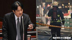 賴清德、消防員 圖/記者林敬旻攝影、默德攝影工作室提供