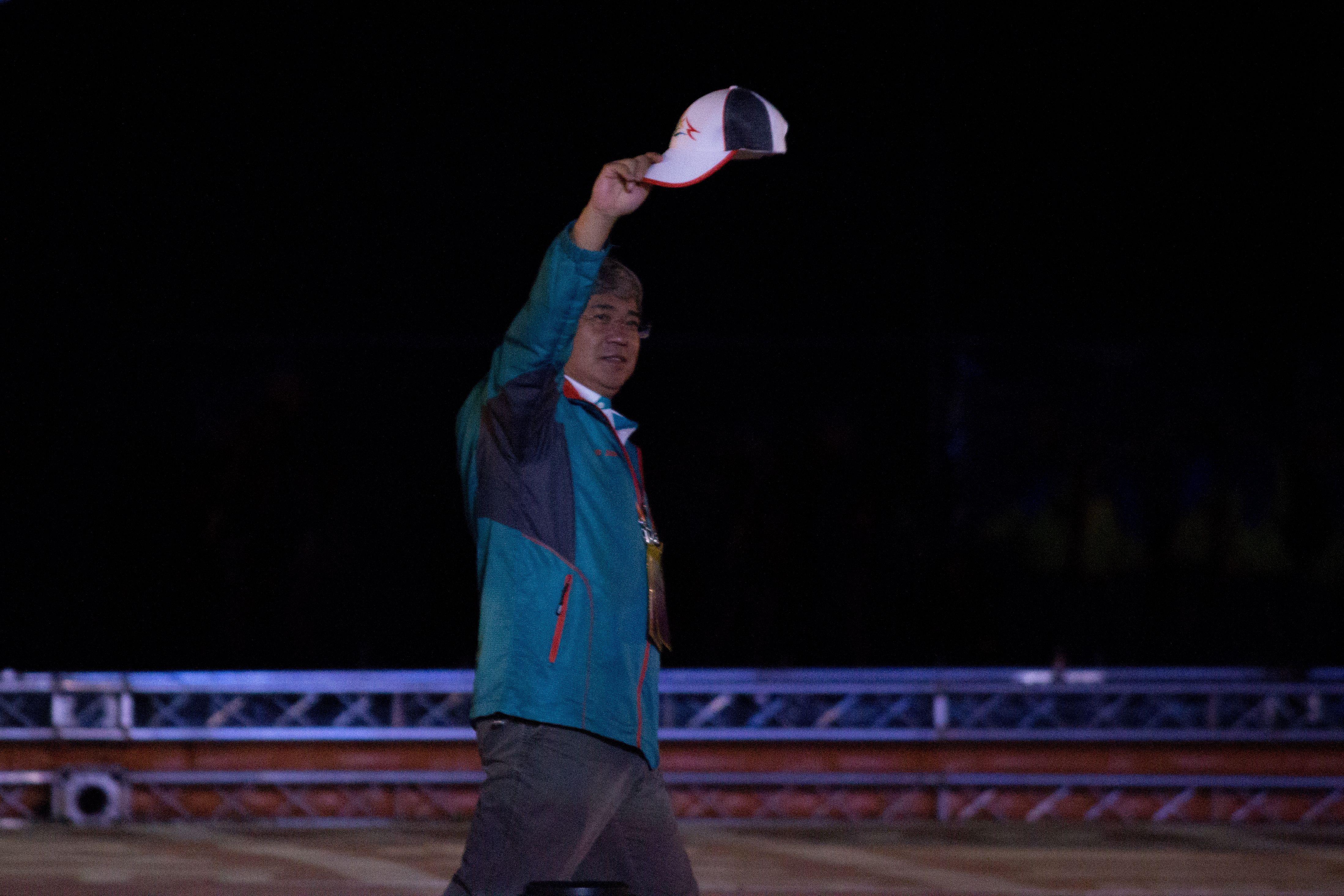 ▲106年全國運動會開幕典禮,台中市體育局局長王慶堂。(圖/記者蔡宜瑾攝影)