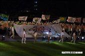 ▲106年全國運動會開幕典禮,會旗入場。(圖/記者蔡宜瑾攝影)