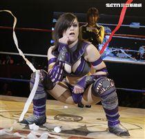 Stardom女子摔角聯盟台灣大賽冠軍賽。(記者邱榮吉/攝影)