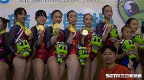 ▲台北市於競技體操女子組成隊競賽中奪得二連霸。(圖/記者蔡宜瑾攝影)