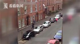 停車,英國,三寶,影片,協助