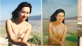 油畫,畫像,大陸,重慶,抽象畫,美女,新疆,生日 圖/翻攝自微博