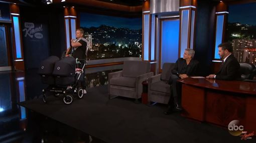 麥特戴蒙 吉米基墨 喬治克隆尼 圖/翻攝自Jimmy Kimmel Live YouTube