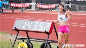 ▲林雯姿以1小時43分鐘53秒奪下女子20公里競走金牌。(圖/記者蔡宜瑾攝影)