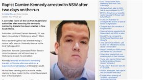 澳洲,強姦犯,肯尼迪,Damien Kennedy,臉書打卡,嗆聲警察,(abc news http://www.abc.net.au/news/2017-10-25/fugitive-rapist-damien-kennedy-arrested-in-nsw/9084006)
