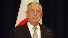 美國國防部長馬提斯(Jim Mattis)17日表示,北韓是亞洲及全世界的威脅,美國從不把盟邦視為理所當然,美國意識到,任何與北韓的衝突都會讓前線盟國日本與南韓立刻面臨危險。中央社記者鄭崇生華盛頓攝 106年8月18日