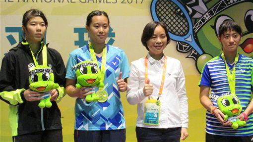 ▲全運會羽球女單得牌選手。(圖/全運會提供)