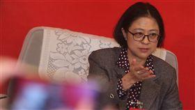 19大 台灣代表盧麗安受訪(1)中共19大專題中共19大在北京召開,20日晚間中共黨代表台灣代表盧麗安(圖)、蘇輝、江爾雄接受媒體訪問,盧麗安發表對中共的想法。中央社記者吳家昇北京攝 106年10月20日