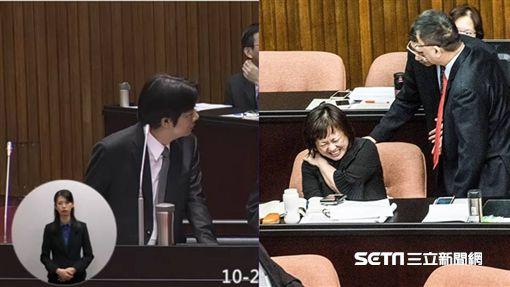 行政院交通環境資源處處長陳盈蓉、賴清德/記者林敬旻攝、立法院議事轉播