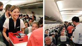 三星為了重拾形象,與西班牙航空(Iberia)合作,大方送出上個月剛上市的Galaxy Note 8給乘客,藉機強調三星的手機可以「放心」帶上飛機了(圖/Samsung España推特)