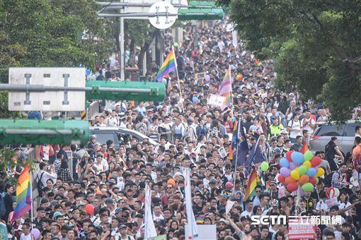 同志大遊行 (圖/記者林敬旻攝影)